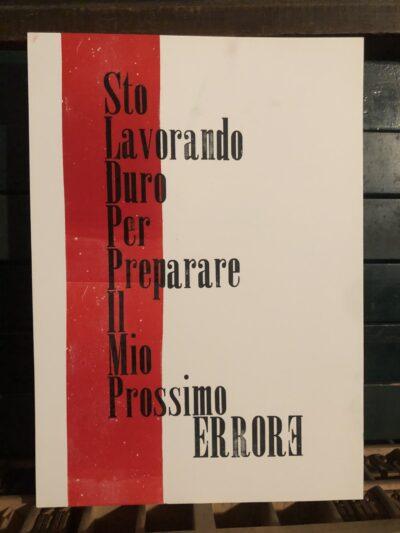 Errore. Poster Bertolt Brecht